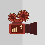 Film and movie icon design Stock Photos