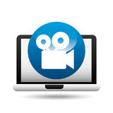 Film movie online digital technology graphic. Vector illustration eps 10 Stock Photos