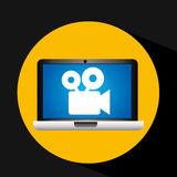 Film movie online digital technology graphic. Vector illustration eps 10 Royalty Free Stock Image
