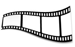Film, Movie, Photo, Filmstrip On White In Black And White Colors Royalty Free Stock Photography