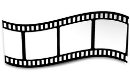 Film, Movie, Photo, Filmstrip On White In Black And White Colors Royalty Free Stock Image