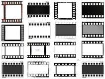 Film, movie, photo, filmstrip set of film frame,  illustration Stock Photo