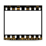 Film, movie, photo, filmstrip on white in black and white colors. On white in black and white colors film, movie, photo, filmstrip Royalty Free Stock Photography
