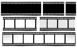 Film, movie, photo, filmstrip on white in black and white colors. On white in black and white colors film, movie, photo, filmstrip Stock Photos