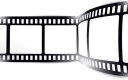 Film, movie, photo, filmstrip on white in black and white colors. On white in black and white colors film, movie, photo, filmstrip Royalty Free Stock Photography