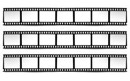 Film, movie, photo, filmstrip on white in black and white colors. On white in black and white colors film, movie, photo, filmstrip Royalty Free Stock Image