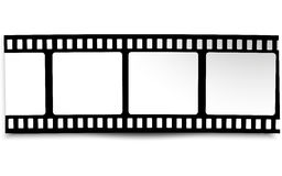 Film, movie, photo, filmstrip on white in black and white colors. On white in black and white colors film, movie, photo, filmstrip Stock Images