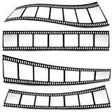 Film, movie, photo, filmstrip on white in black and white colors. On white in black and white colors film, movie, photo, filmstrip Stock Photo
