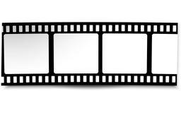 Film, movie, photo, filmstrip on white in black and white colors. On white in black and white colors film, movie, photo, filmstrip Stock Image