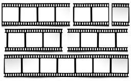 Film, movie, photo, filmstrip on white in black and white colors. On white in black and white colors film, movie, photo, filmstrip Royalty Free Stock Photo
