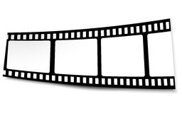 Film, movie, photo, filmstrip on white in black and white colors Stock Photos