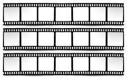 Film, movie, photo, filmstrip on white in black and white colors Stock Images