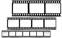 Film, movie, photo, filmstrip on white in black and white colors Royalty Free Stock Photos