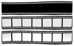 Film, movie, photo, filmstrip on white in black and white colors Stock Photography