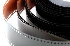 Film négatif de couleur 35 millimètres de peu développé Photos stock