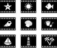 film na plaży royalty ilustracja