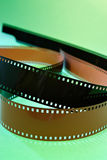 Film negative. On green background Royalty Free Stock Photography