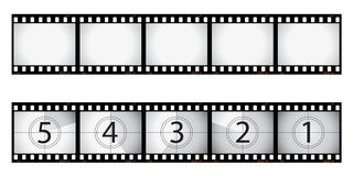 Film negative and countdown Stock Images