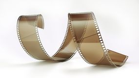Film negative - 3D rendering. Film negative on white background -- 3D rendering Stock Photos