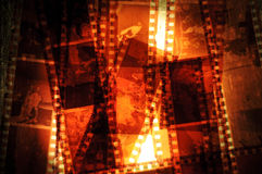 Film Negative Strips Stock Photography