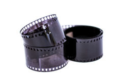 Film Negative on White Background Royalty Free Stock Photo