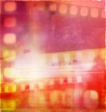 Film negatives. Abstract film negatives color background Stock Photos