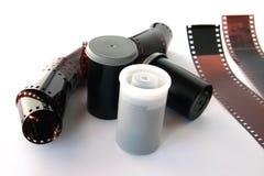Film negatives. Film negatives on white background royalty free stock image