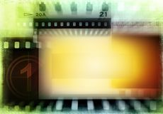 Film negatives background. Grungy film negatives background. Copy space Stock Images