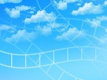 Film negatives landscape Stock Photos