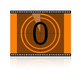 Film No 0 Zero royalty free stock images