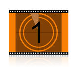 Film No 1 One. Film Countdown at No 1 One Royalty Free Stock Image
