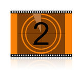 Film No 2 Two. Film Countdown at No 2 Two Royalty Free Stock Photos