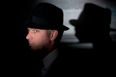 Film noir criminal detective stock photo