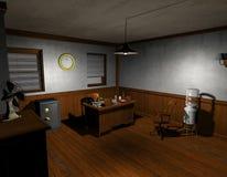 Film noir detective office Royalty Free Stock Image