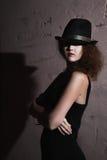 Film noir meisje in het retro beeld Stock Fotografie