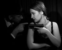 Film Noir Royalty Free Stock Photo