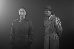 Film noir scène Royalty-vrije Stock Foto