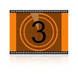 Film Nr 3 Drie vector illustratie