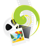 Film objects and photography of resort. Illustration Royalty Free Stock Image