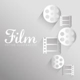 Film- och biosymboler Royaltyfri Bild