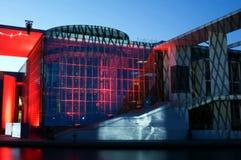 Film- och ljusshow på tysk Bundestag Fotografering för Bildbyråer