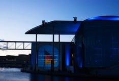 Film- och ljusshow på tysk Bundestag Arkivfoton