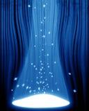 Film oder Theatertrennvorhang Stockbild