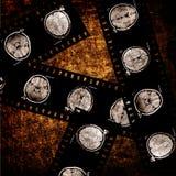 Film op grungeachtergrond Royalty-vrije Stock Fotografie