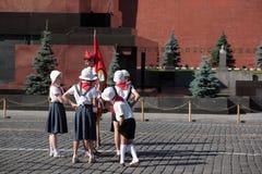 Film op Rood Vierkant in Moskou Stock Afbeeldingen