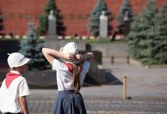 Film op Rood Vierkant in Moskou Stock Afbeelding
