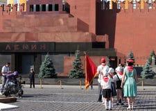 Film op Rood Vierkant in Moskou Royalty-vrije Stock Afbeeldingen