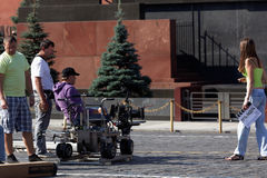 Film op Rood Vierkant in Moskou Royalty-vrije Stock Fotografie