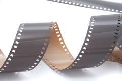 Film op wit Stock Afbeeldingen
