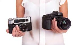 Film Or Digital. Royalty Free Stock Photos